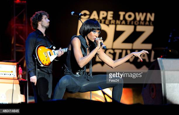 Lindiwe Suttle performing during the 13th Cape Town International Jazz Festival on March 31 2012 in Cape Town South Africa at Cape Town International...