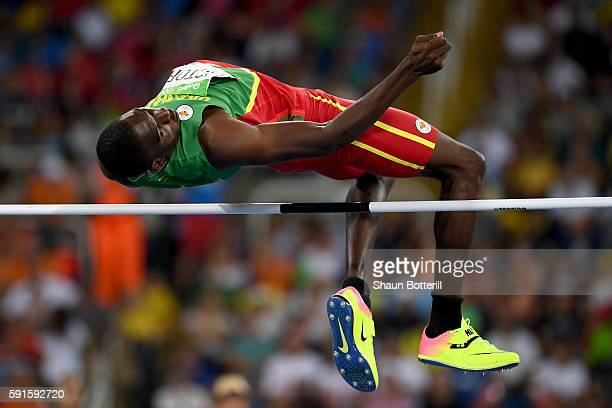 Lindon Victor of Grenada competes in the Men's Decathlon High Jump on Day 12 of the Rio 2016 Olympic Games at the Olympic Stadium on August 17 2016...