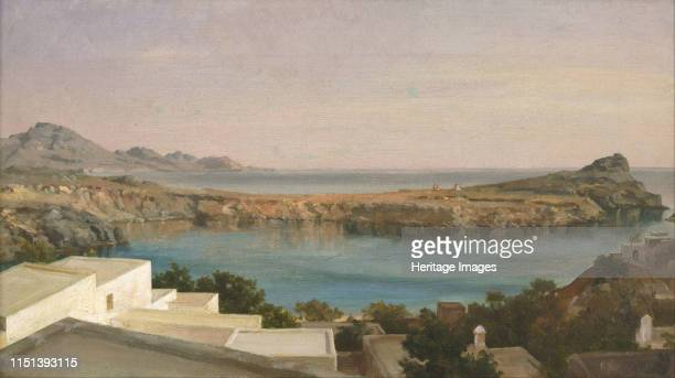 Lindos, Rhodes, ca 1860-1870. Found in the collection of the Art Gallery of New South Wales. Artist Leighton, Frederic, 1st Baron Leighton .