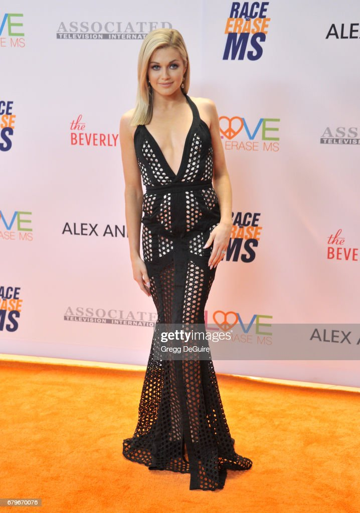 Lindsay Arnold arrives at the 24th Annual Race To Erase MS Gala at The Beverly Hilton Hotel on May 5, 2017 in Beverly Hills, California.
