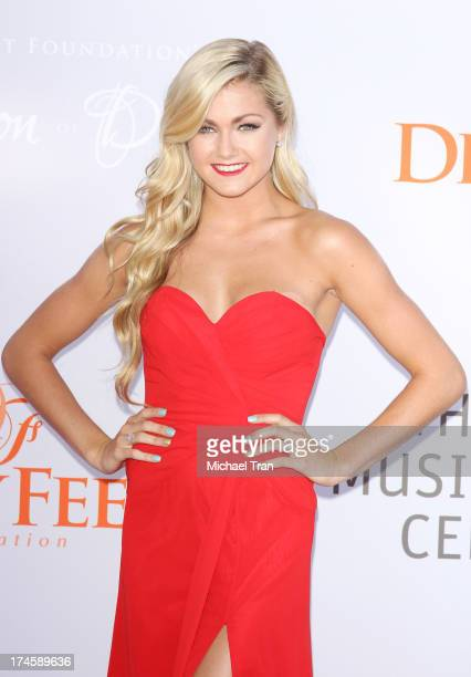 Lindsay Arnold arrives at the Dizzy Feet Foundation's 3rd Annual Celebration of Dance Gala held at Dorothy Chandler Pavilion on July 27 2013 in Los...