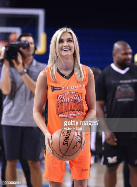 Lindsay Arnold attends 50K Charity Challenge Celebrity Basketball Game at UCLA's Pauley Pavilion on July 17 2018 in Westwood California