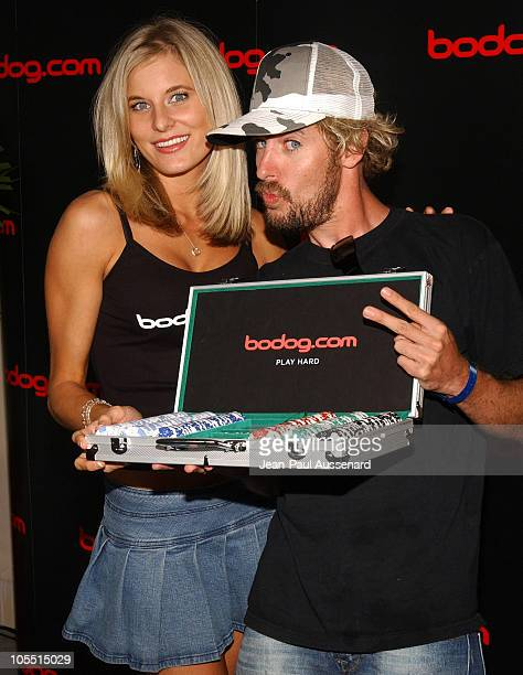 Lindsay Bedell and Jonny Fairplay at bodog.com during bodog.com at The Silver Spoon Pre-Emmy Hollywood Buffet - Day 1 at Private residence in Beverly...