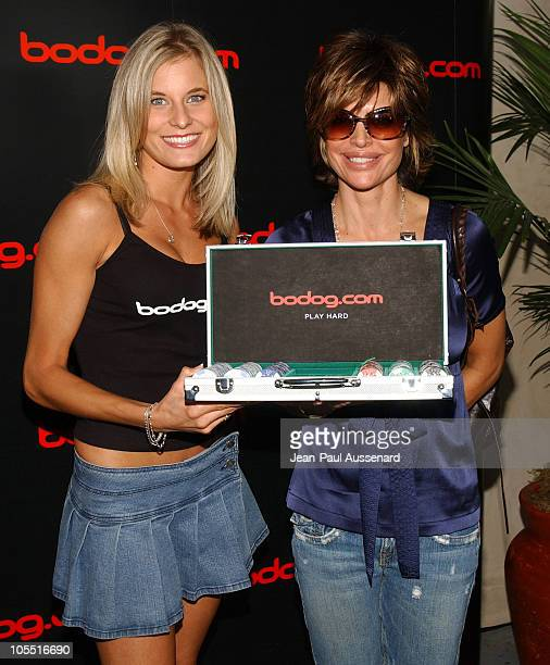 Lindsay Bedell and Lisa Rinna at bodog.com during bodog.com at The Silver Spoon Pre-Emmy Hollywood Buffet - Day 1 at Private residence in Beverly...