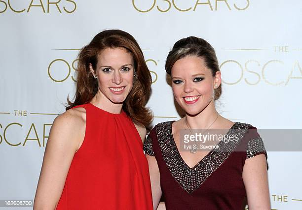 Lindsay Bress and Katherine Gage attend the 85th Academy Awards Official New York City Viewing Party on February 24 2013 in New York City