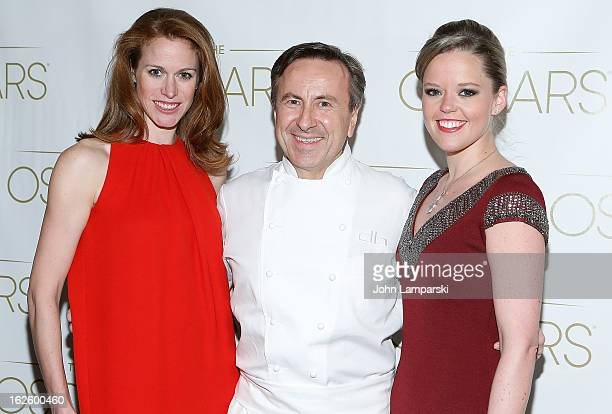 Lindsay Bress Chef Daniel Boulud and Katherine Gage attend the 85th Academy Awards Official New York City Viewing Party at Daniel on February 24 2013...