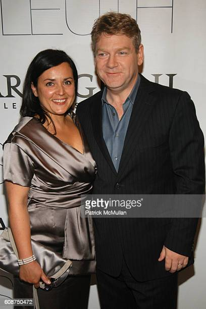Lindsay Brunnock and Kenneth Branagh attend NY Premiere of Sony Pictures Classics SLEUTH at Paris Theater on October 2, 2007 in New York City.