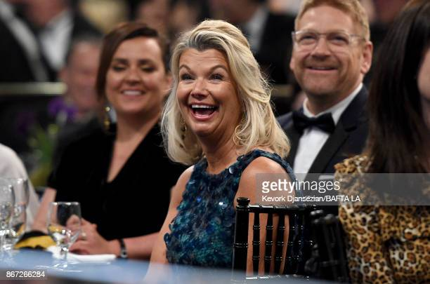 Lindsay Brunnock CEO of BAFTA Los Angeles Chantal Rickards and Kenneth Branagh at the 2017 AMD British Academy Britannia Awards Presented by American...