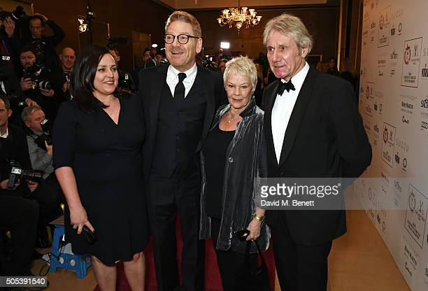 Lindsay Brunnock Kenneth Branagh Dame Judi Dench and David Mills arrive at The London Critics' Circle Film Awards at The May Fair Hotel on January 17...