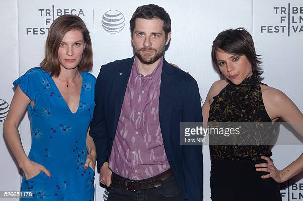"""Lindsay Burdge, Kentucker Audley and Eleonore Hendricks attend the """"Come Down Molly"""" New York premiere during the 2015 Tribeca Film Festival at Regal..."""
