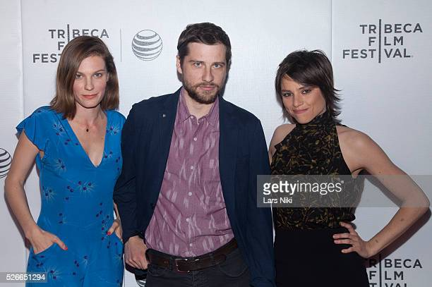Lindsay Burdge Kentucker Audley and Eleonore Hendricks attend the 'Come Down Molly' New York premiere during the 2015 Tribeca Film Festival at Regal...