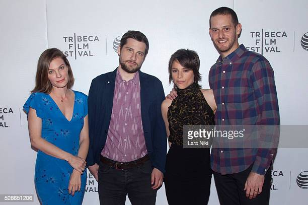 """Lindsay Burdge, Kentucker Audley, Eleonore Hendricks and Gregory Kohn attend the """"Come Down Molly"""" New York premiere during the 2015 Tribeca Film..."""