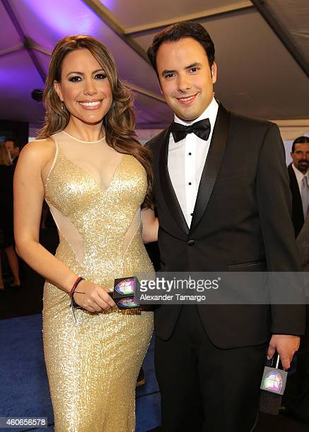 Lindsay Casinelli and Alejandro Berry attend the inaugural Premios Univision Deportes at Univision Studios on December 17 2014 in Miami Florida