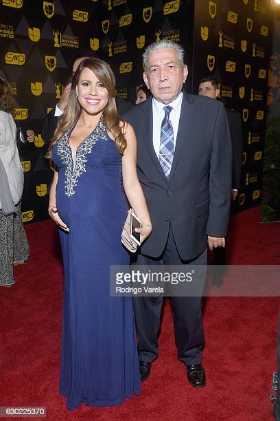 Lindsay Casinelli and guest at Premios Univision Deportes 2016 on December 18 2016 in Miami Florida