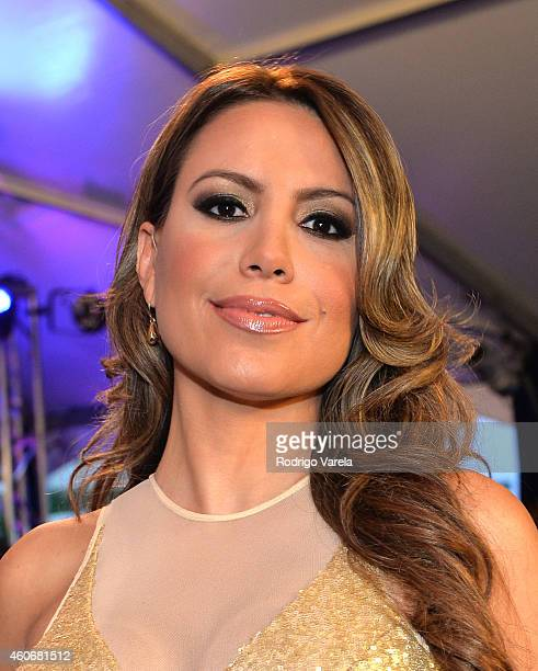Lindsay Casinelli attends the inagural Premios Univision Deportes at Univision Studios on December 17 2014 in Miami Florida