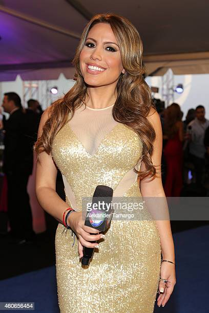 Lindsay Casinelli attends the inaugural Premios Univision Deportes at Univision Studios on December 17 2014 in Miami Florida