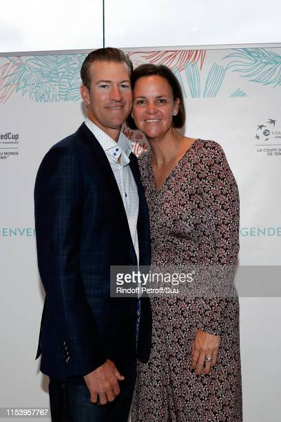 Lindsay Davenport and Jon Leach attend the Legends Of Tennis Dinner as part of 2019 French Tennis Open at on June 05 2019 in Paris France