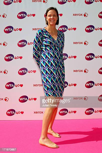Lindsay Davenport arrives for the WTA 40 Love Celebration during Middle Sunday of the Wimbledon Lawn Tennis Championships at the All England Lawn...