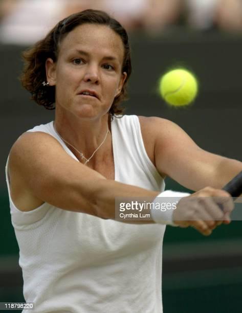 Lindsay Davenport Lindsay Davenport defeats Svetlana Kuznetsova 76 63 in the quarterfinal of the 2005 Wimbledon Championships on June 28 2005