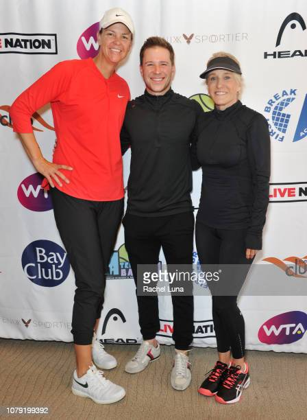 Lindsay Davenport Steve Wiessman and Tracy Austin attend the 2nd Annual LA Tennis Bash hosted by the Manhattan Country Club And First Break Academy...