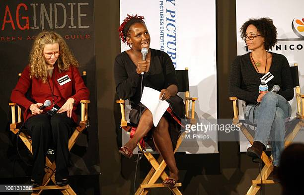 Lindsay Doran, Producer, Stranger Than Fiction, Effie T. Brown, Executive Producer, In The Cut, moderator and Stephanie Allain, Producer, Hustle and...