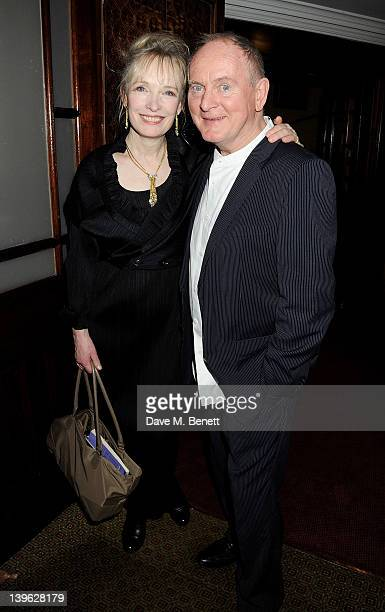 Lindsay Duncan and director Howard Davies attend an after party celebrating the Gala Performance of Noel Coward's 'Hay Fever' at the Royal...