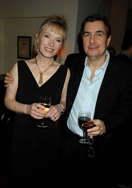 Lindsay Duncan and Husband during HBO 2007 Pre-Golden Globes Party at Chateau Marmont in Los Angeles, California, United States.