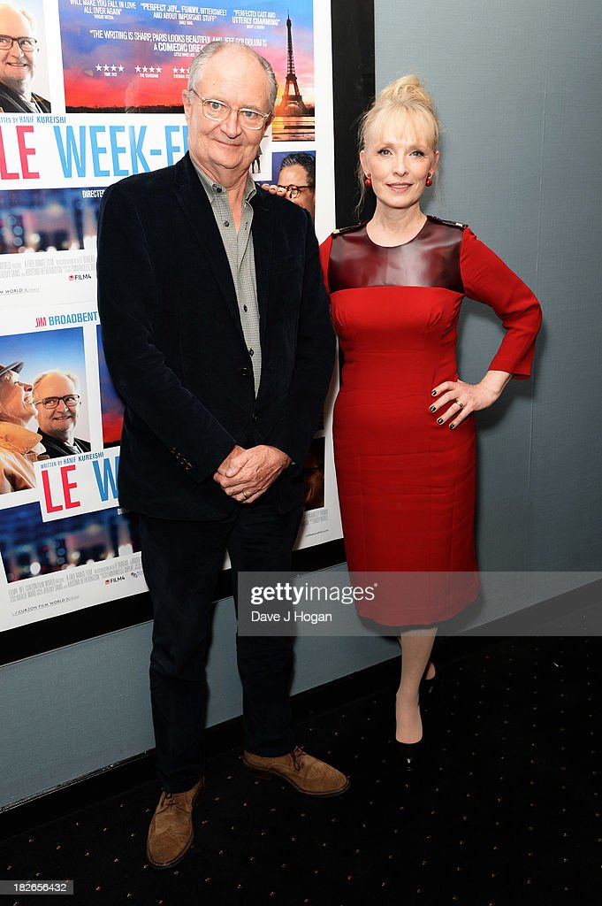 Lindsay Duncan and Jim Broadbent attend the UK premiere of 'Le Week-end' at The Curzon Chelsea on October 1, 2013 in London, England.