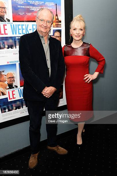 Lindsay Duncan and Jim Broadbent attend the UK premiere of 'Le Weekend' at The Curzon Chelsea on October 1 2013 in London England