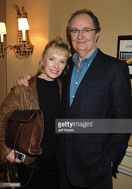 Lindsay Duncan and Jim Broadbent of Longford during HBO Winter 2007 TCA Press Tour in Los Angeles California United States