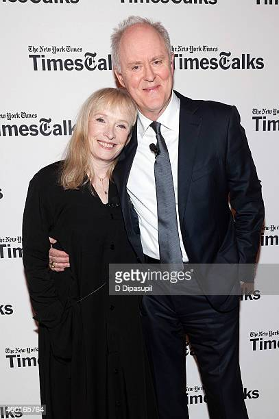 Lindsay Duncan and John Lithgow attend TimesTalks Presents An Evening With The Cast Of 'A Delicate Balance' at The Times Center on December 8 2014 in...