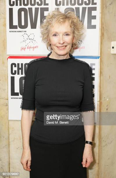 Lindsay Duncan attends the Choose Love fundraiser in aid of Help Refugees at The Fortune Theatre on February 19 2018 in London England