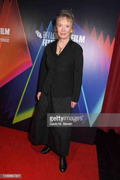 """Lindsay Duncan attends the UK Premiere of """"A Banquet"""" during the 65th BFI London Film Festival at the Curzon Soho on October 15, 2021 in London,..."""