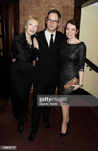 Lindsay Duncan Jeremy Northam and Olivia Colman attend an after party celebrating the Gala Performance of Noel Coward's 'Hay Fever' at the Royal...