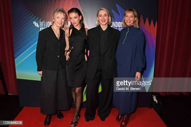"""Lindsay Duncan, Jessica Alexander, Ruth Paxton and Sienna Guillory attend the UK Premiere of """"A Banquet"""" during the 65th BFI London Film Festival at..."""
