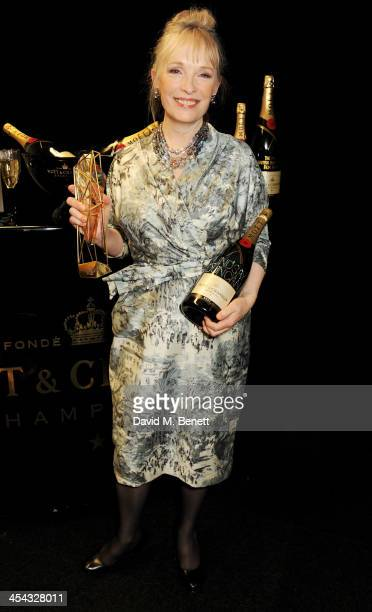 Lindsay Duncan winner of Best Actress for 'Le WeekEnd' poses backstage at the Moet British Independent Film Awards 2013 at Old Billingsgate Market on...