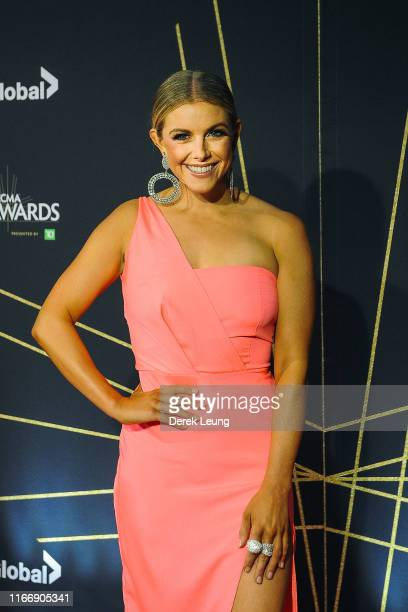 Lindsay Ell arrives at the 2019 Canadian Country Music Awards at Scotiabank Saddledome on September 8 2019 in Calgary Canada