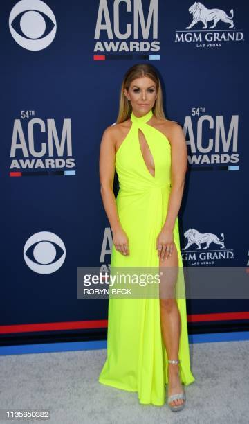 Lindsay Ell arrives for the 54th Academy of Country Music Awards on April 7 2019 in Las Vegas Nevada