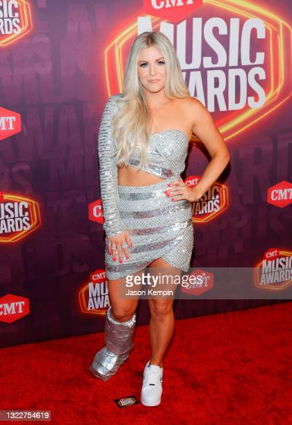 Lindsay Ell attends the 2021 CMT Music Awards at Bridgestone Arena on June 09, 2021 in Nashville, Tennessee.