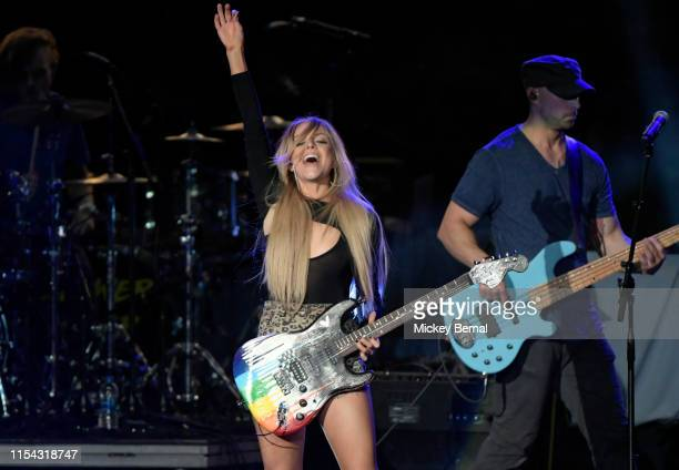 Lindsay Ell performs during 2019 CMA Music Festival Day 1 at Ascend Amphitheater on June 06 2019 in Nashville Tennessee