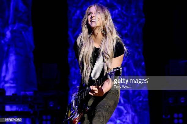 Lindsay Ell performs on stage during the 6th Annual Georgia On My Mind presented by Gretsch at Ryman Auditorium Nashville on July 17 2019 in...