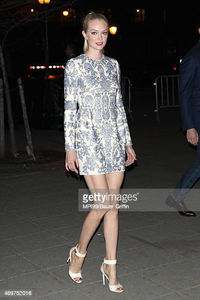 Lindsay Ellingson arrives at the 2015 Tribeca Film Festival Vanity Fair Party at the State Supreme Courthouse on April 14 2015 in New York City