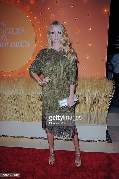 Lindsay Ellingson attends 15th Annual New Yorkers For Children Gala at Cipriani 42nd Street on September 30 2014 in New York City