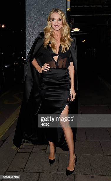 Lindsay Ellingson attends Chopard Christmas Party at Annabel's member's club in Mayfair on December 2 2014 in London England