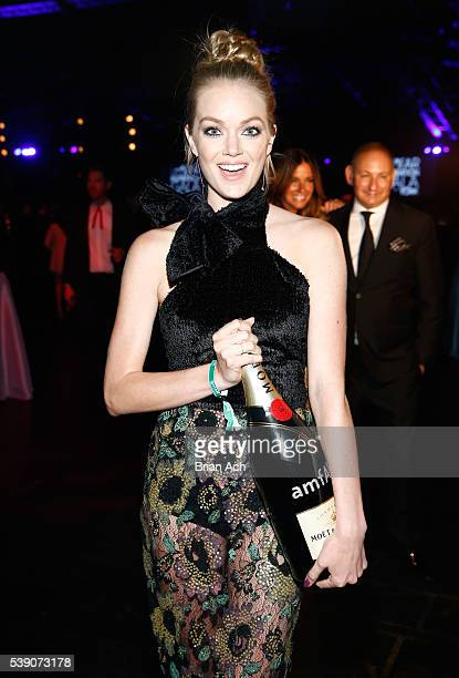 Lindsay Ellingson attends Moet Chandon's toast to the amfAR Inspiration Gala In New York City on June 8 2016 in New York City