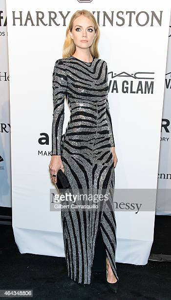 Lindsay Ellingson attends the 2015 amfAR New York Gala at Cipriani Wall Street on February 11, 2015 in New York City.