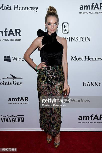 Lindsay Ellingson attends the 7th Annual amfAR Inspiration Gala at Skylight at Moynihan Station on June 9 2016 in New York City