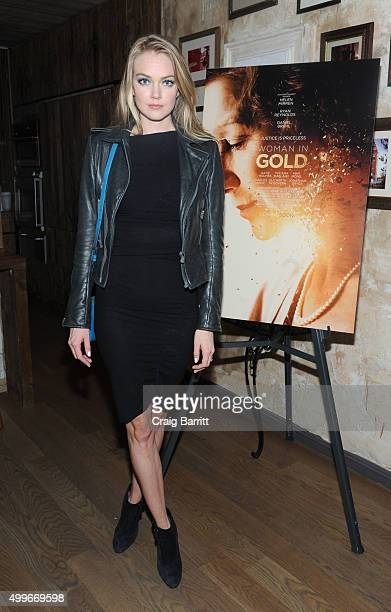 Lindsay Ellingson attends the Women In Gold cocktail reception at Elyx House New York on December 2 2015 in New York City