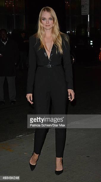 Lindsay Ellingson is seen on October 20 2015 in New York City