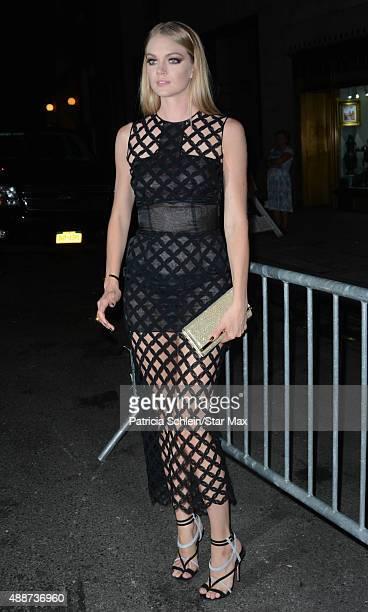 Lindsay Ellingson is seen on September 16 2015 in New York City